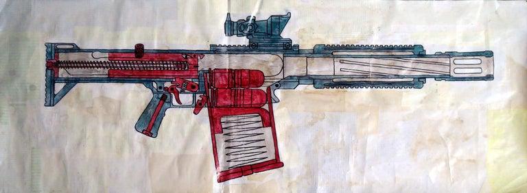 M203 Grenade Launcher - Art by Alfredo Martinez