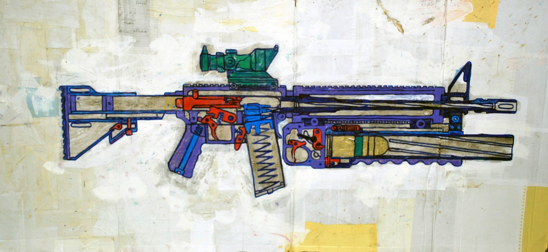 M4 203 Machine Gun and Grenade Launcher