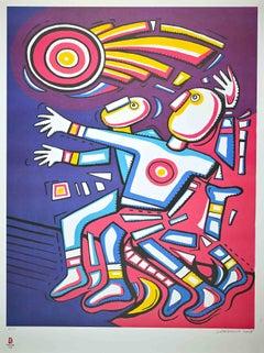 Athleticism - Original Lithograph by Alfredo Sosabravo - 2008