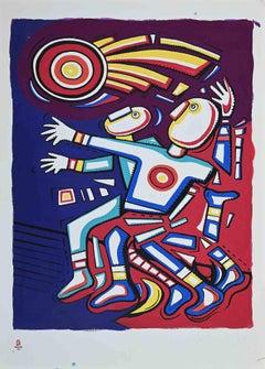 Athleticism - Vintage Offset Poster by Alfredo Sosabravo - 2008
