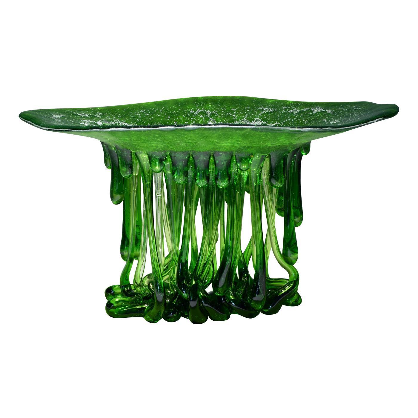 Alga Green Murano Glass Sculpture
