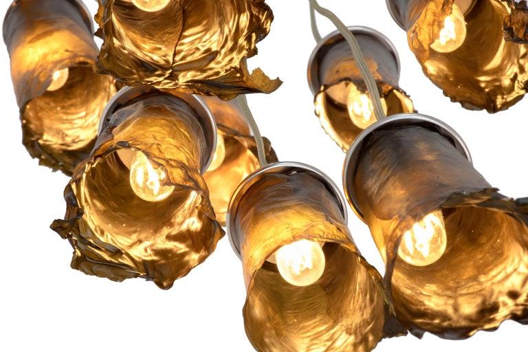 American Algae Chandelier, Contemporary Customizable Lighting in Natural, Organic Algae For Sale