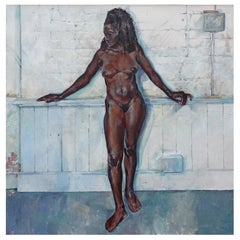 Algerian Model, Contemporary Nude Oil Painting
