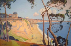 Bournemouth 20th Century Art Deco Oil Painting