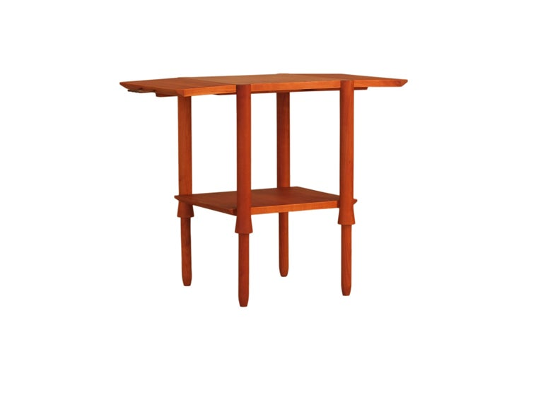 Contemporary coffee table made of cherrywood, designed by Ugo La Pietra in 1998 for the collection