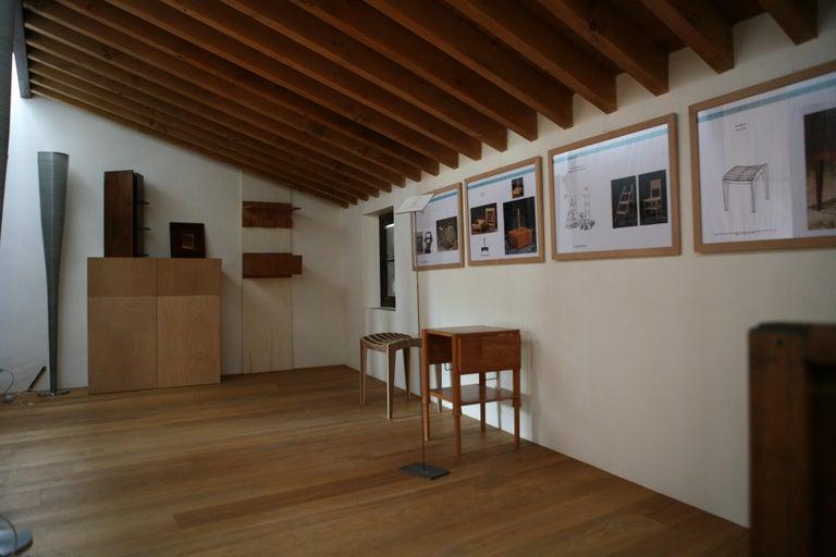 Alì Coffee Table, Made of Cherry Wood, Design Ugo La Pietra For Sale 1