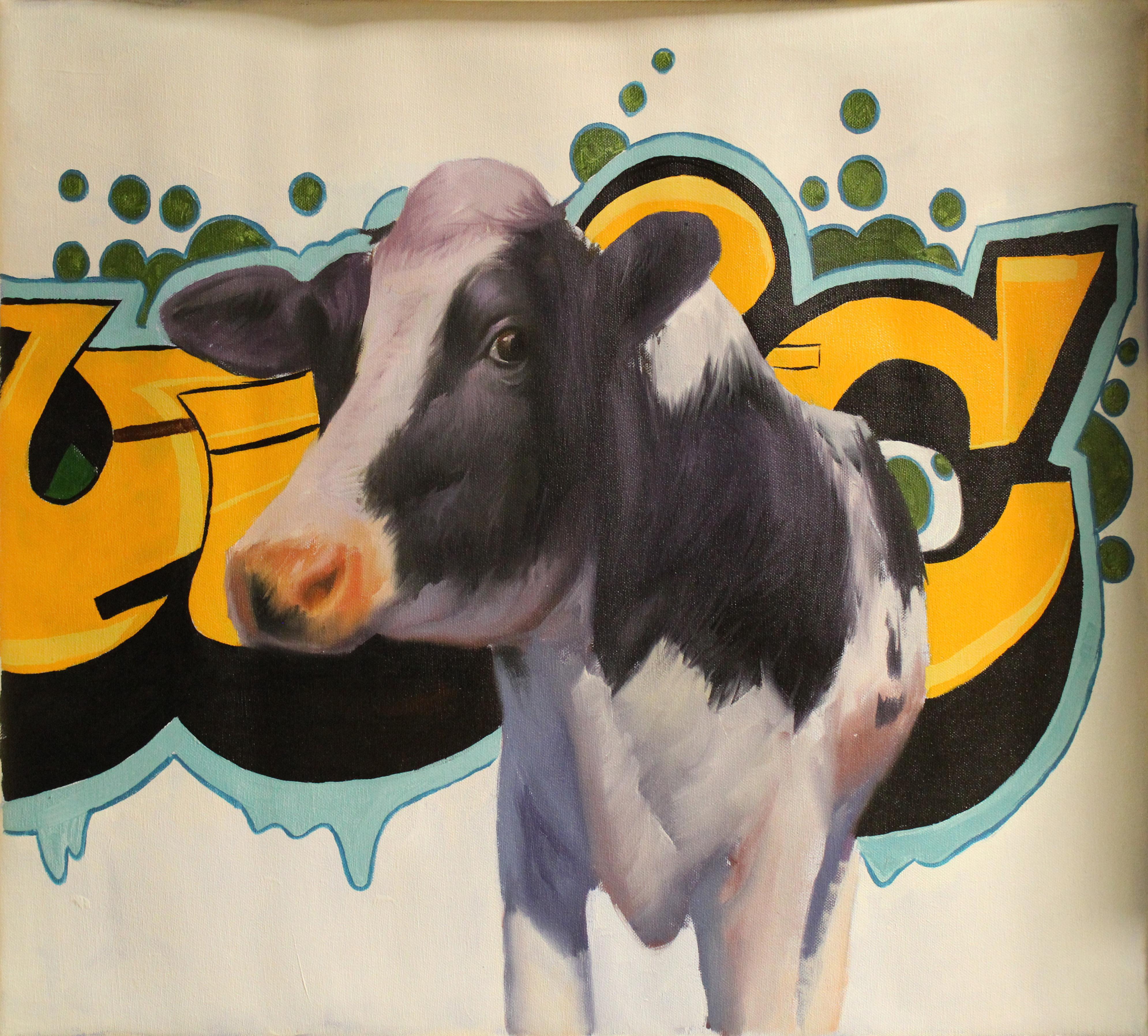 """Vaca"", Oil Painting"