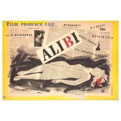 Alibi 1957 Polish A1 Film Poster