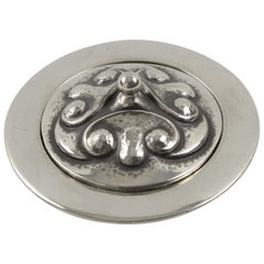 Alice and Eugene Chanal French Art Nouveau Pewter Box