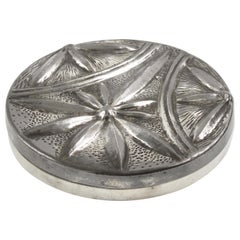 Alice and Eugene Chanal French Art Nouveau Pewter Flat Box