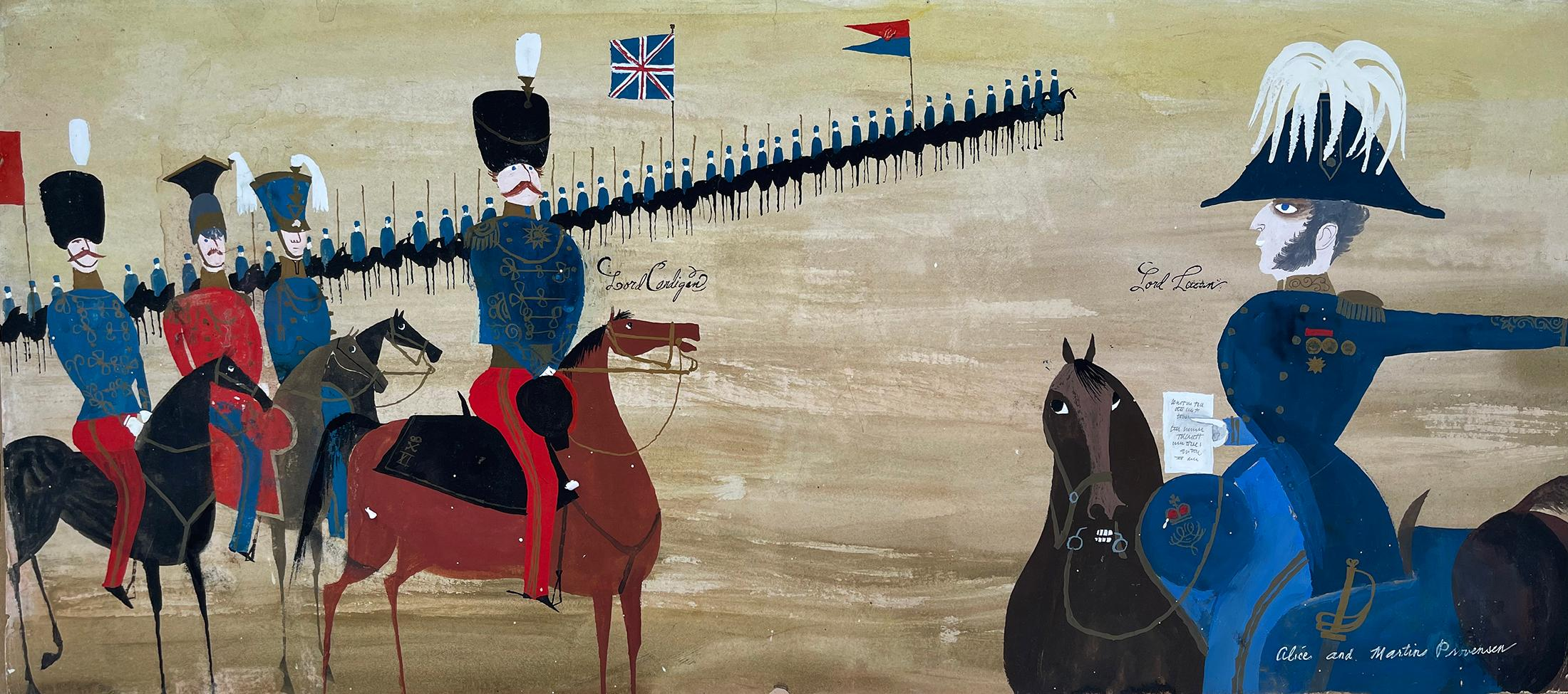 The Charge of the Light Brigade on Horses Lord Cardigan and Lord Lucan