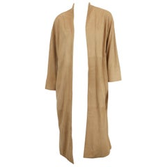 Alice and Olivia Beige Suede Long Jacket
