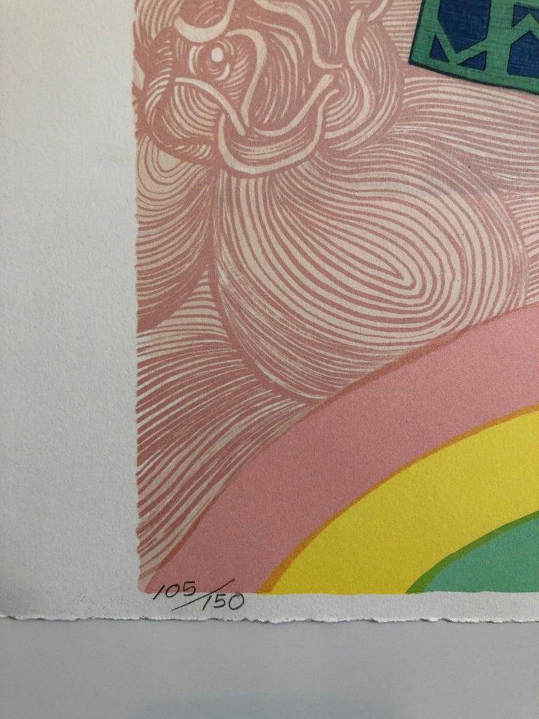 Rainbow Dancer, Native American Indian Lithograph California Woman Artist - Print by Alice Asmar