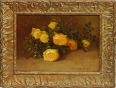 Impressionist Flower Still Life of Yellow Roses by Alice Brown Chittenden