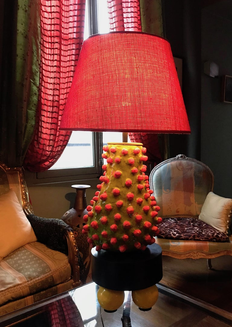Contemporary Alice Gavalet, Unique Large Table Lamp, Loulou, 2015 For Sale