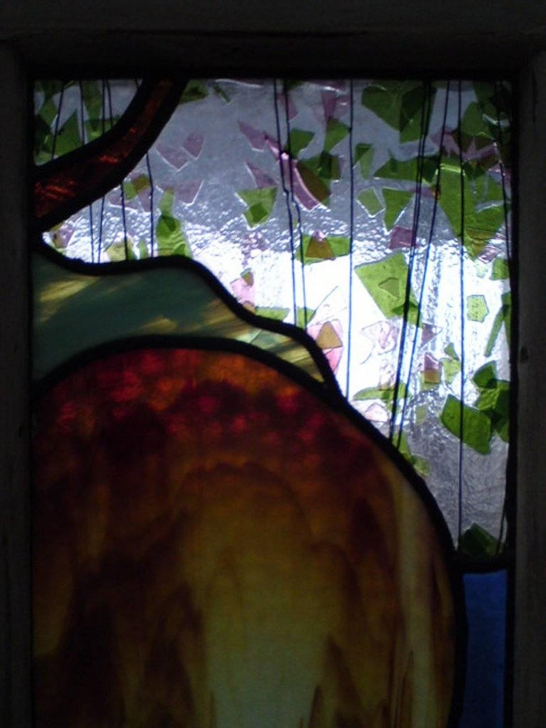 Alice in Wonderland, A Five Piece Suite of Stained and Leaded Glass Doors. In Good Condition For Sale In London, GB