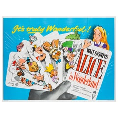 Alice in Wonderland Original UK Film Poster, R1958