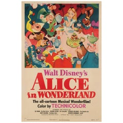 Alice in Wonderland, US Film Poster, 1951