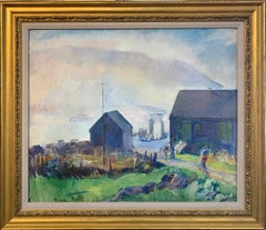 Fog, Impressionist Landscape on Monhegan Island, Maine, 1930, Oil on Canvas