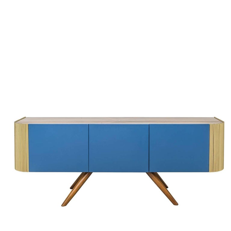 Italian Alice Low Sideboard Blue For Sale