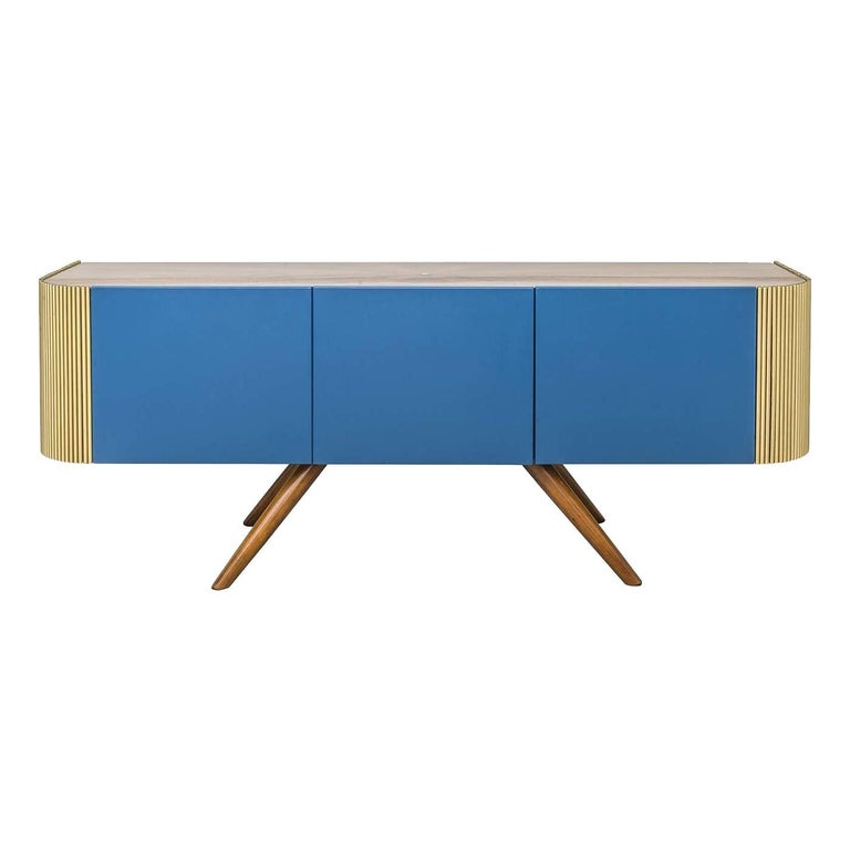 Alice Low Sideboard Blue For Sale