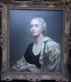 Portrait of Mrs Willis - British 30's art exhibited oil painting female artist