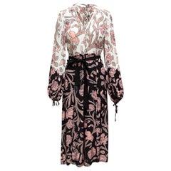 Alice McCall Black & Multicolor Floral Print Jumpsuit