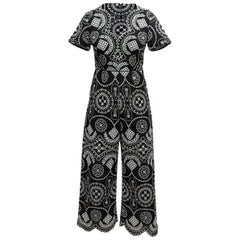 Alice McCall Black & White Embroidered Jumpsuit