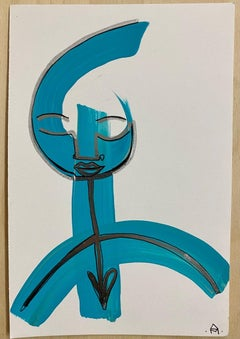 Love Within, acrylic & chrome ink on watercolor paper by Alice Mizrachi