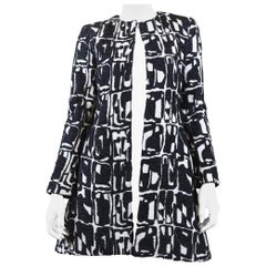 Alice + Olivia Women's White/Black Long Dress Coat
