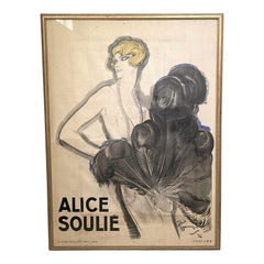 """""""Alice Soulie"""" by Domerge Multimedia Poster with Christie's Documentation"""