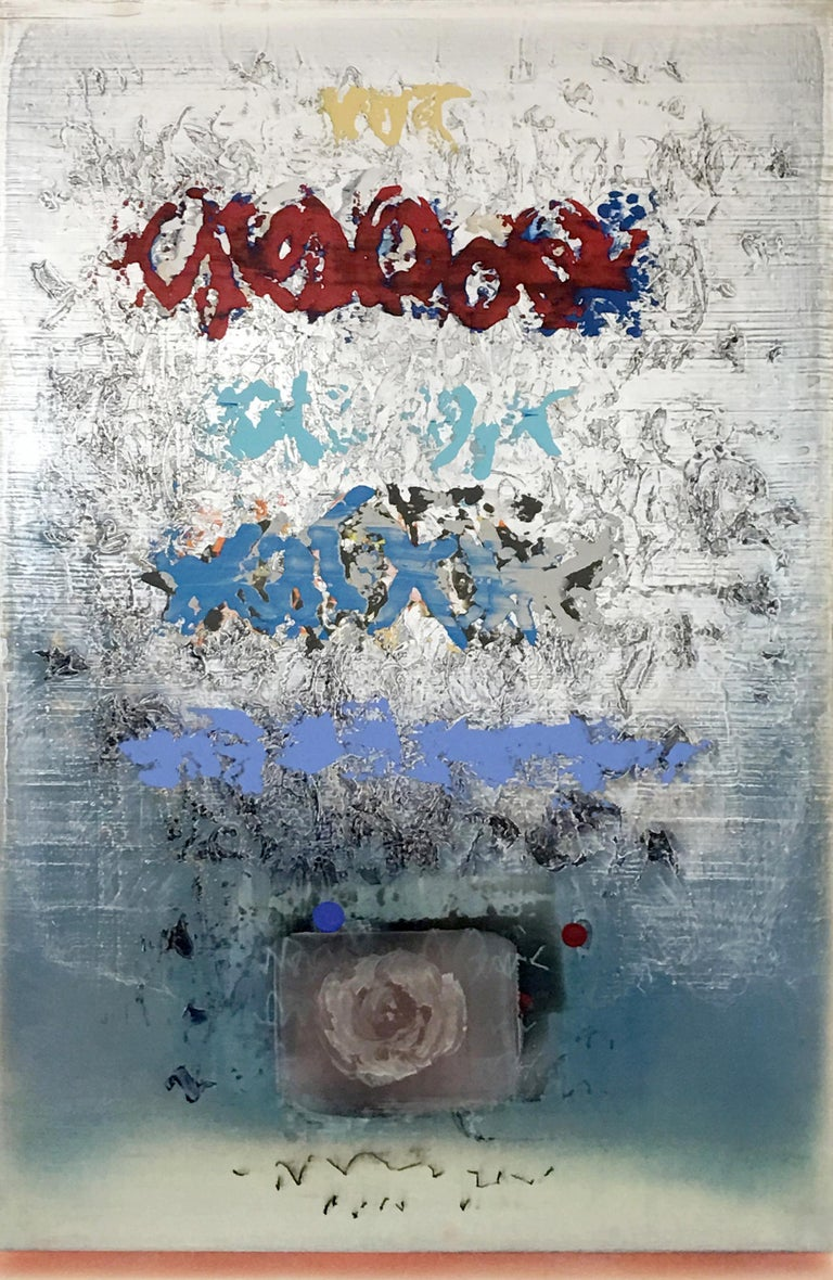 Alice Teichert Abstract Painting - Silver Lining
