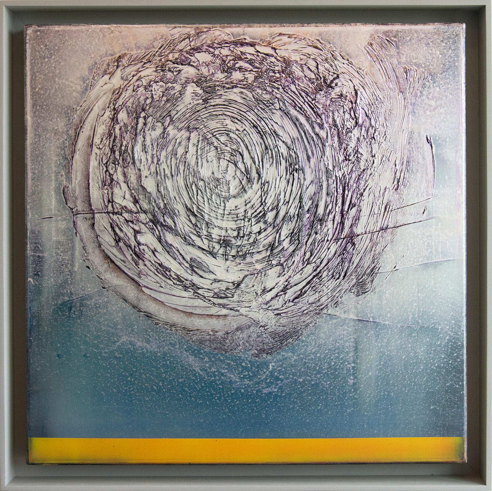 Helio - Blue, Silver, Violet and Yellow abstraction