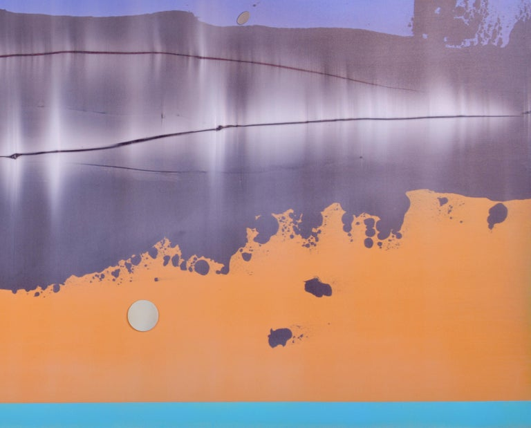 Omnipresent - Large format horizontal in blue and mango For Sale 1