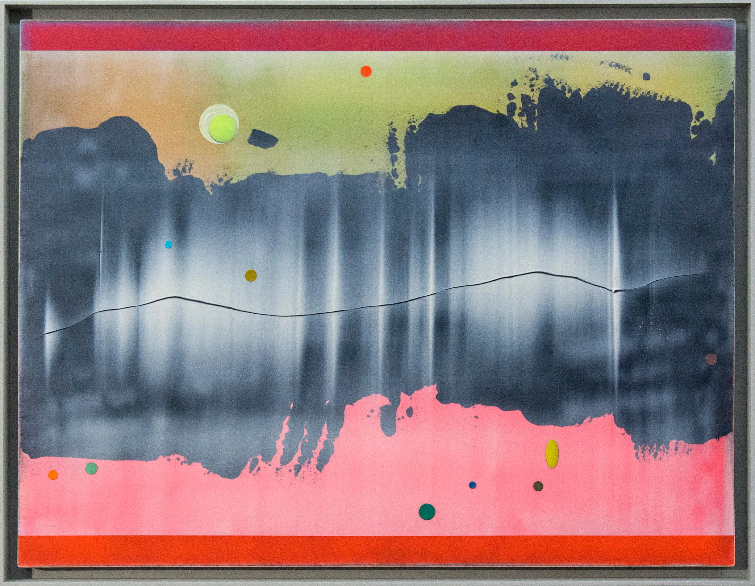 Resonance - Pink, Yellow, Grey and White Abstraction
