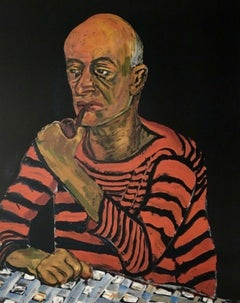 Man with Pipe (John Rothschild), Limited Edition Lithograph, Alice Neel