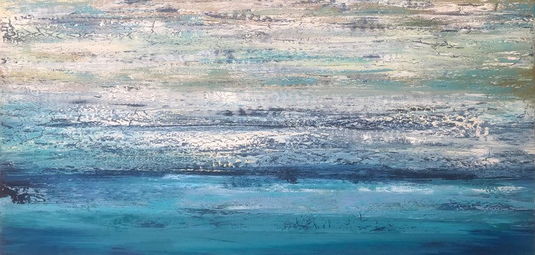 Out of the Blue II, Abstract Painting - Mixed Media Art by Alicia Dunn