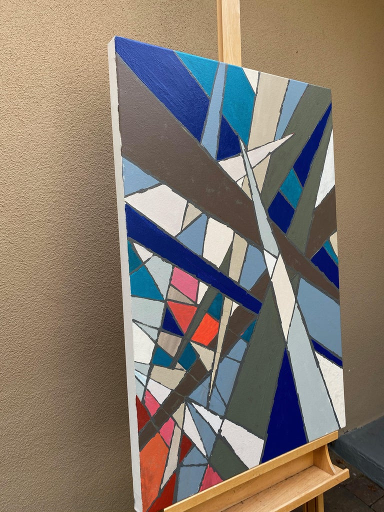 Jagged Edges, Abstract Painting For Sale 1