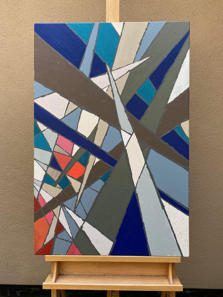 Jagged Edges, Abstract Painting For Sale 2