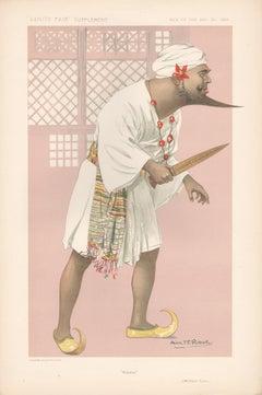 Oscar Asche, Australian actor, Vanity Fair portrait chromolithograph, 1911