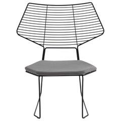 Alieno Peacock Black Chair with Cushion by GamFratesi