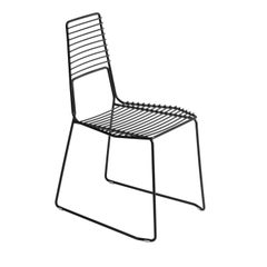 Alieno Set of 2 Black Chairs by GamFratesi