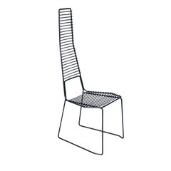 Alieno Set of 2 Black High Chairs by GamFratesi