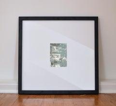 Midnight Sky No. 1,  Small Mixed Media Abstract Mirror Painting