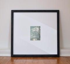 Midnight Sky No. 4,  Small Mixed Media Abstract Mirror Painting