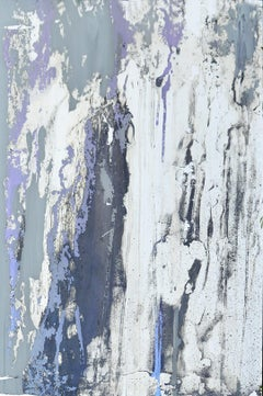 'My Violet Dreams', Modern Abstract Mixed Media Mirror Painting