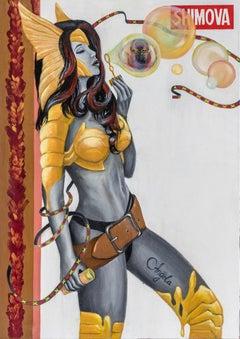 """Angela"" Oil painting 47"" x 33"" inch by Alina Shimova"