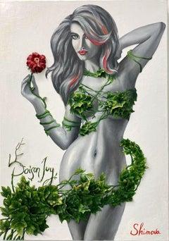 """Poison Joy"" Oil painting 59"" x 31"" inch by Alina Shimova"