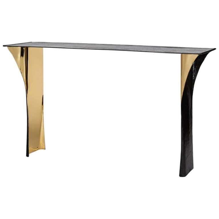 """Aline Hazarian, """"Aramaz,"""" Contemporary Console Table, Bronze, Lebanon, 2016 For Sale"""