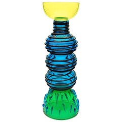 Alioth Glass Vase, by Ettore Sottsass from Memphis Milano